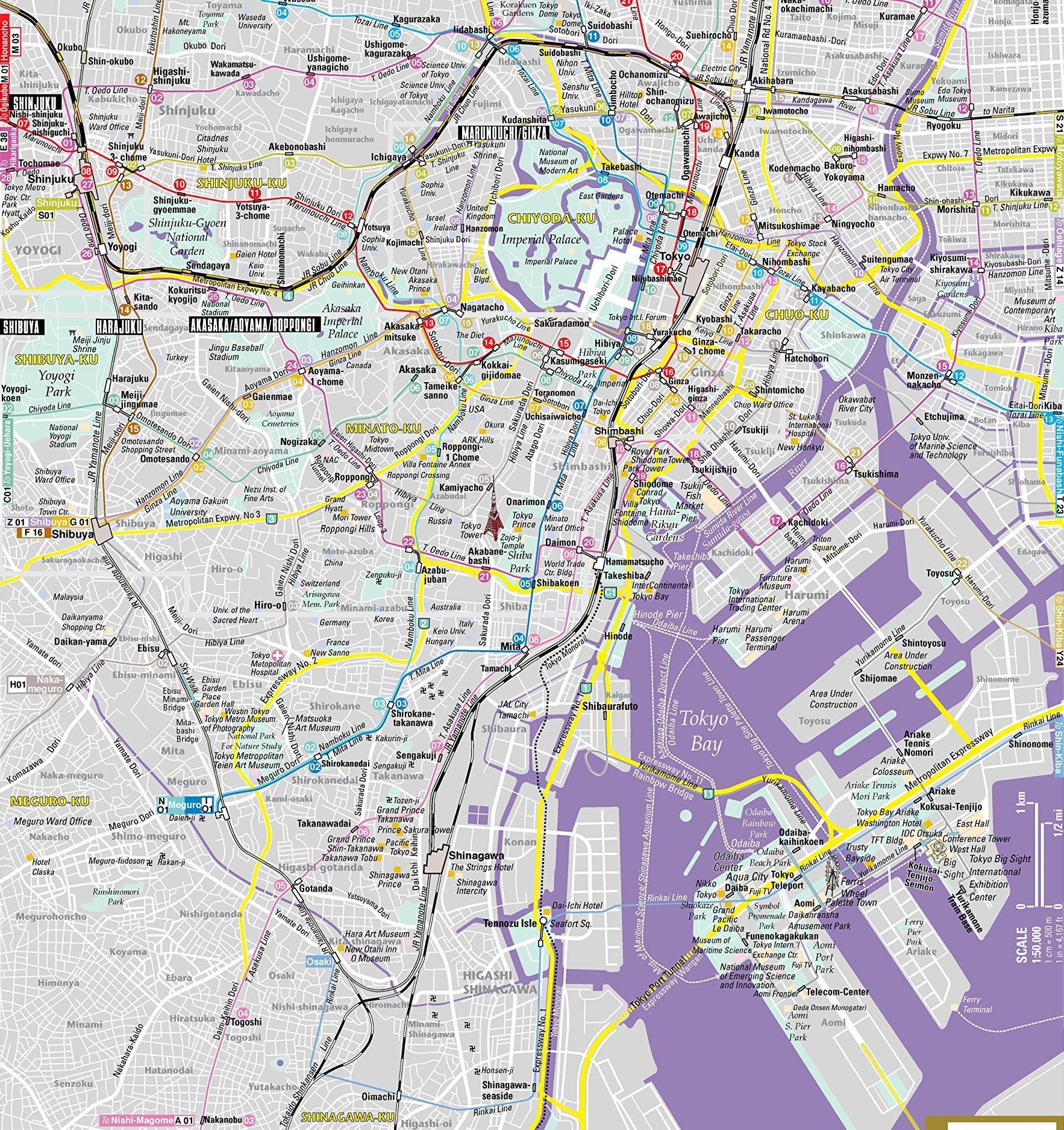 Mapa Tokyo Mapa